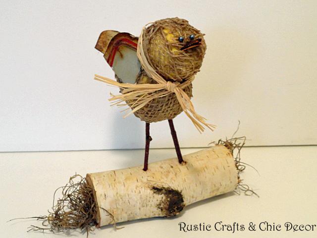 rustic bird craft