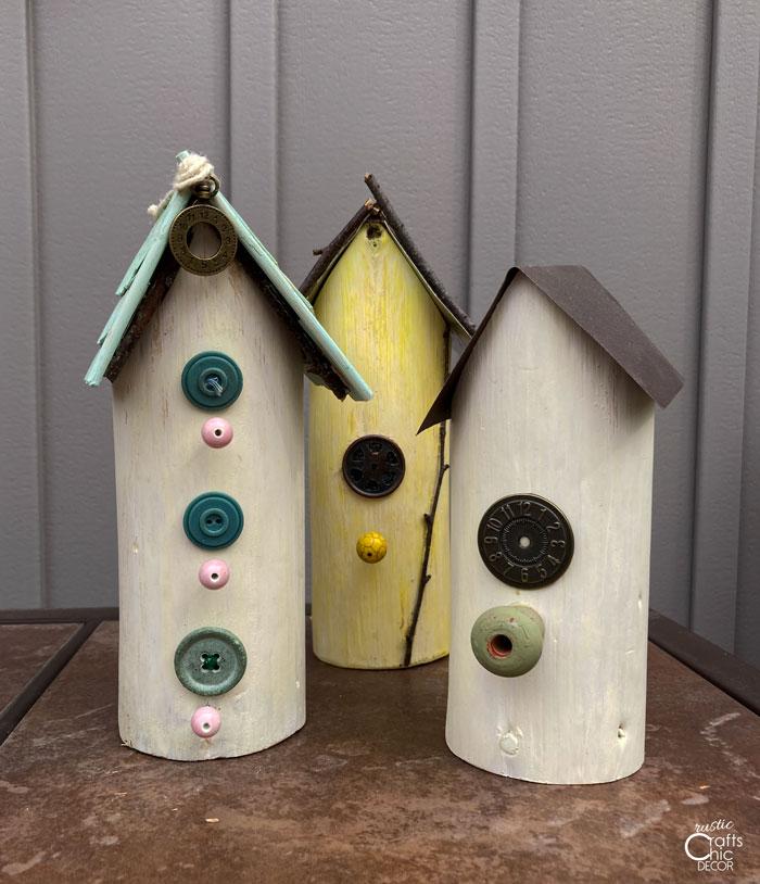 small whimsical birdhouses