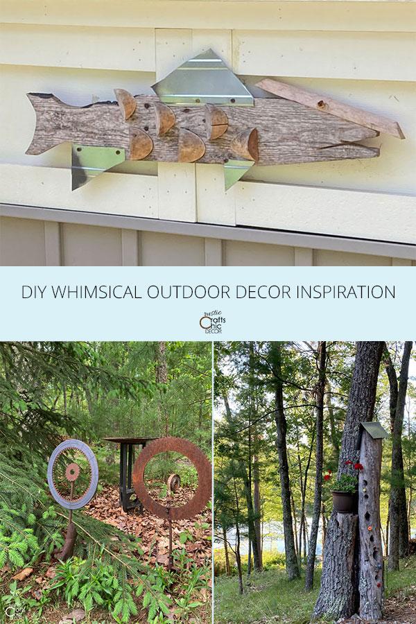 whimsical outdoor decor