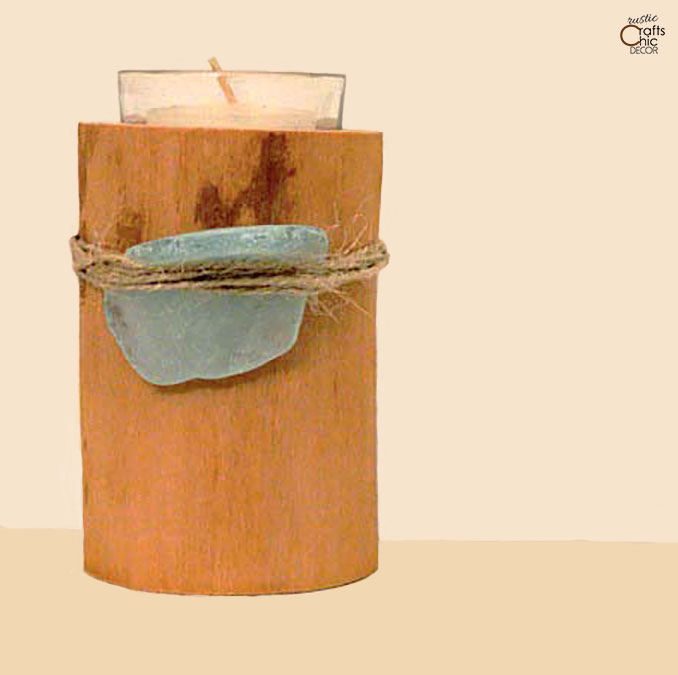 candle holder made from natural materials