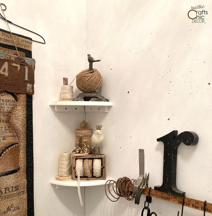 craft room twine storage
