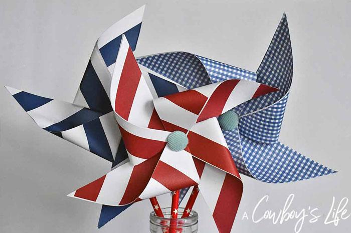 diy patriotic pinwheels