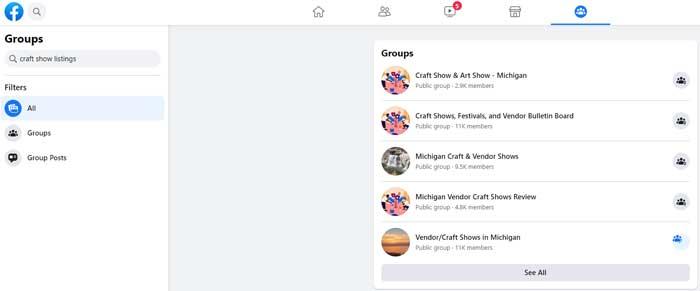 facebook craft show groups