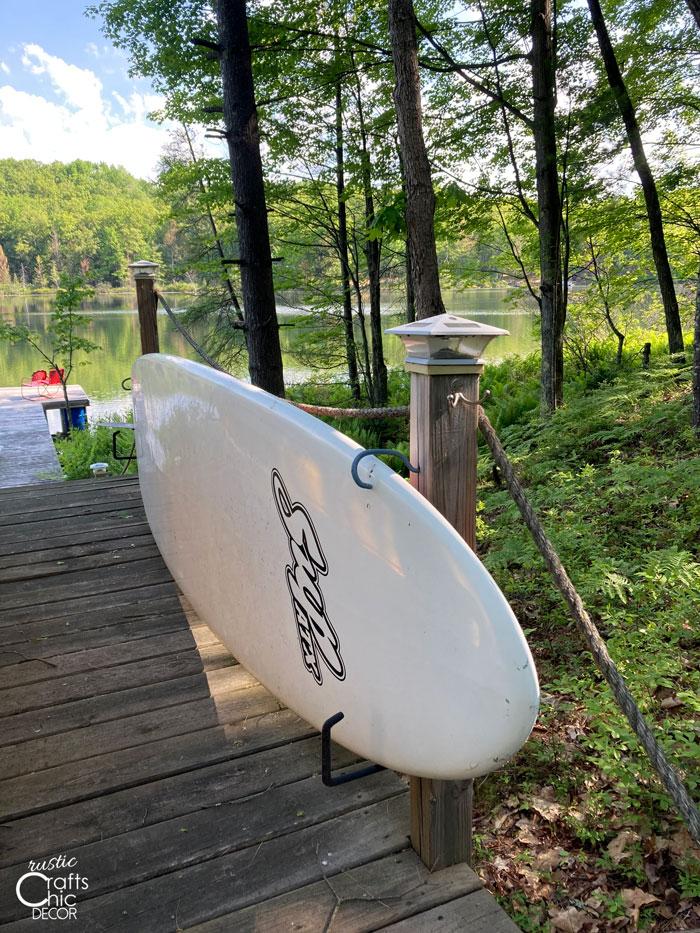 diy paddle board storage