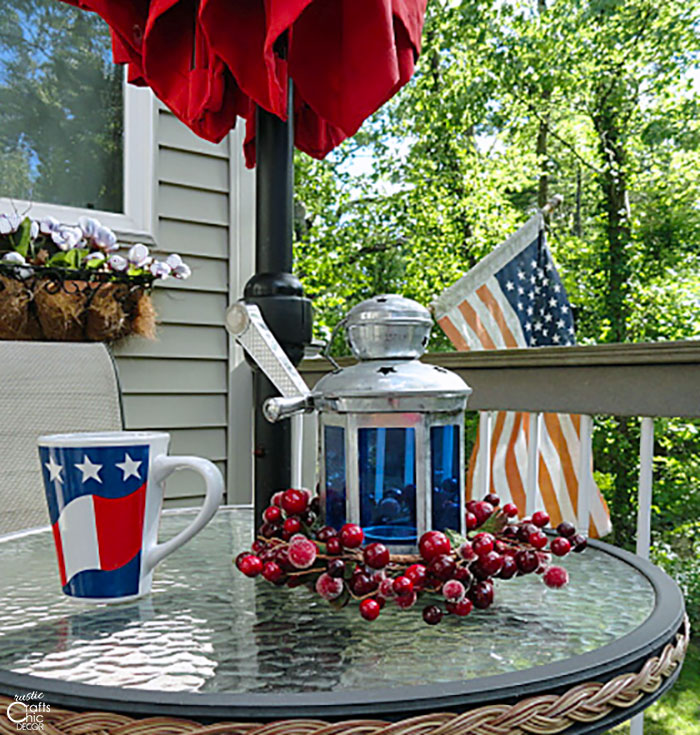patriotic bistro table