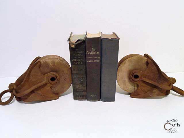 pulley idea for bookends