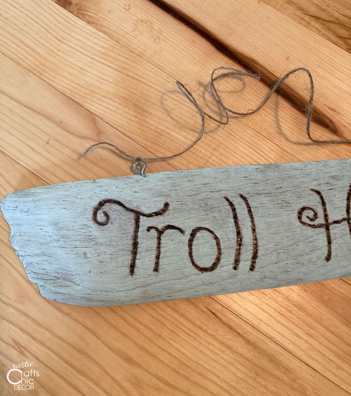 troll holes sign