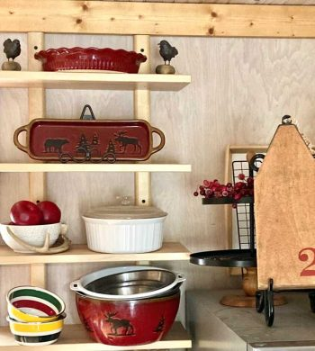 what to put on kitchen open shelving