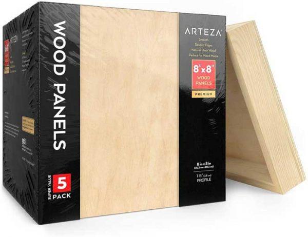 square wood panels