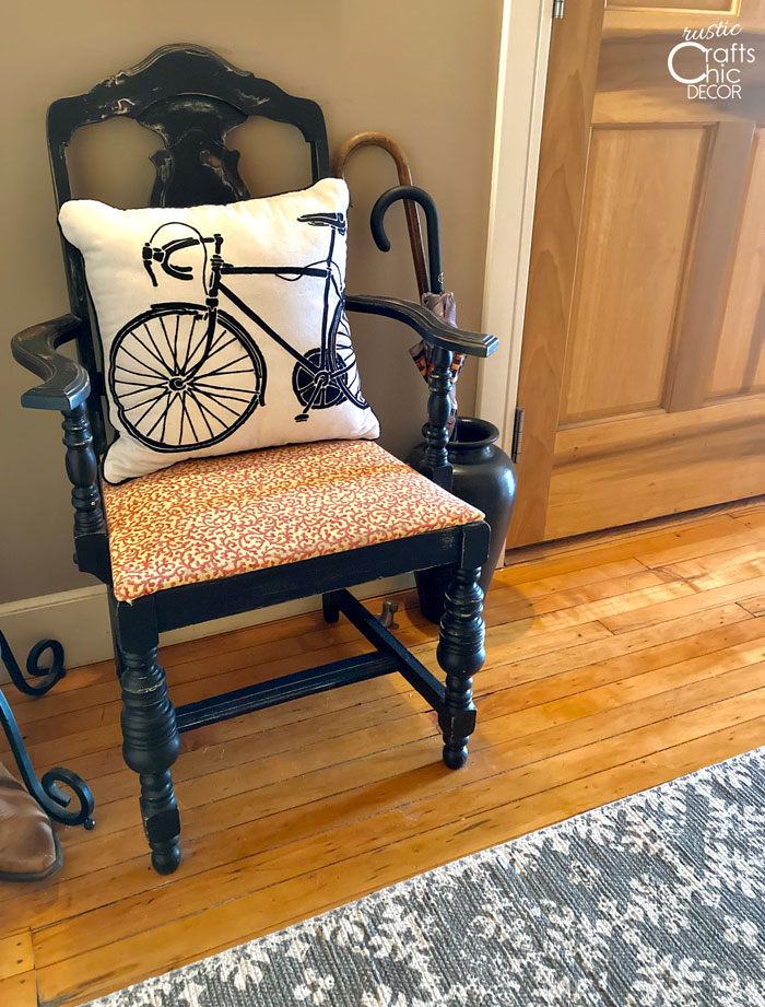 simple diy decoration ideas - chair makeover