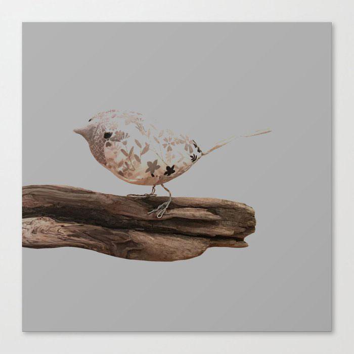 fabric bird canvas