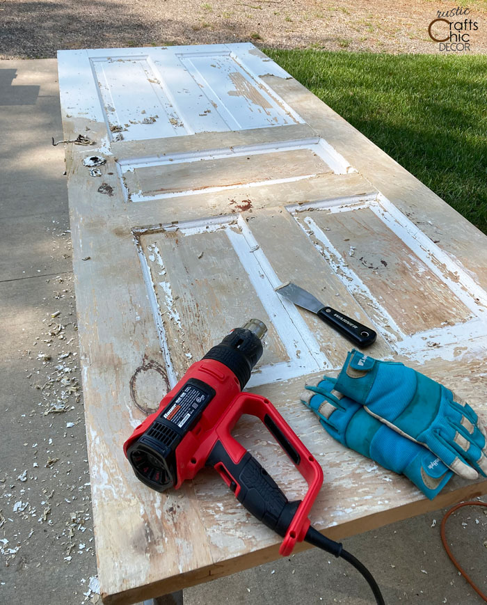 paint stripping from old doors