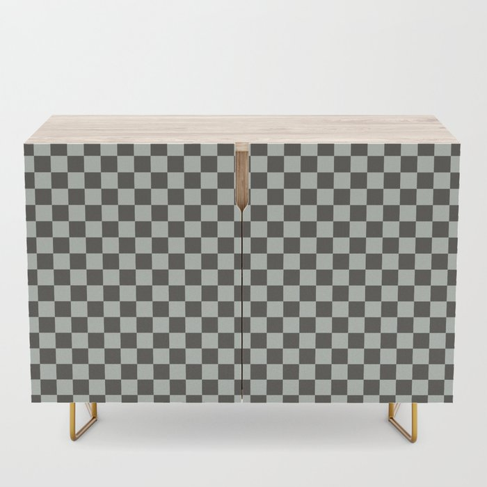 pale green and brown credenza
