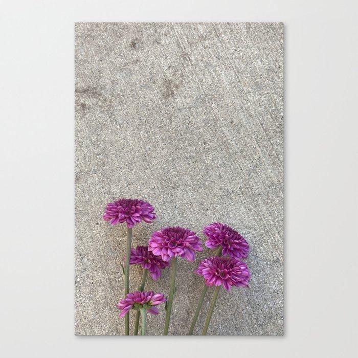flowers on concrete print