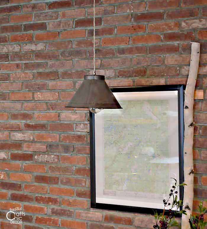 diy light fixture decoration