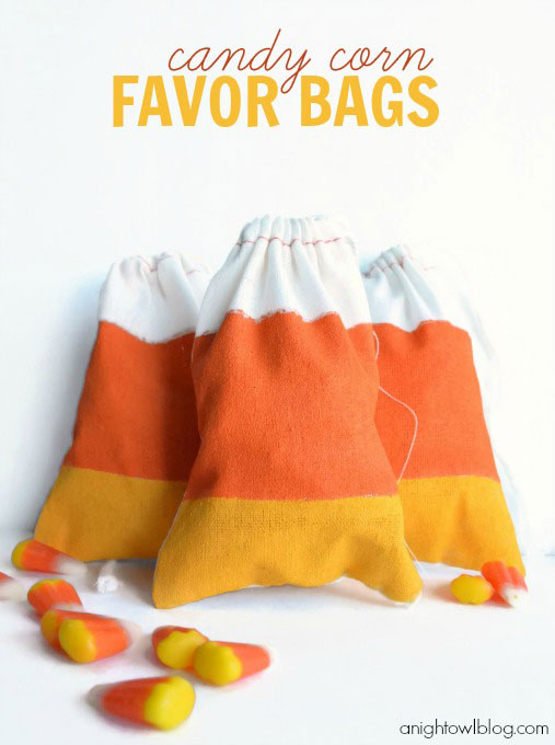 candy corn favor bags
