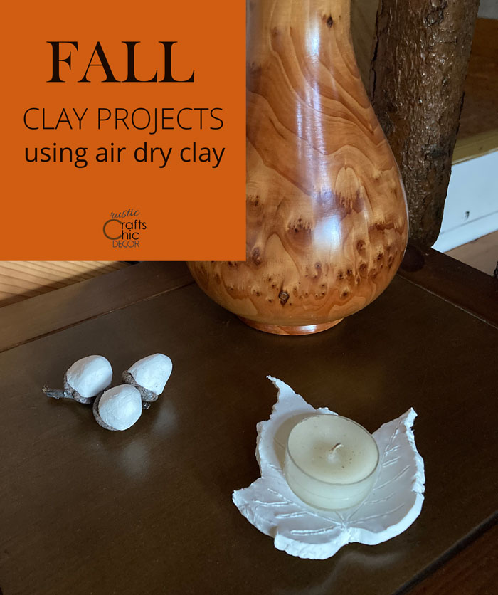 clay fall leaves