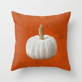 fall white pumpkin pillow