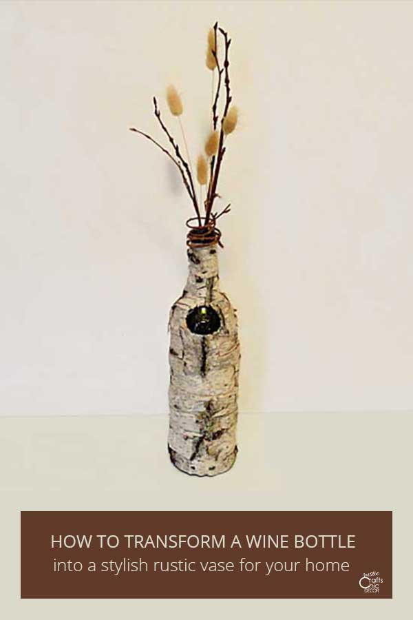 fall wine bottle vase