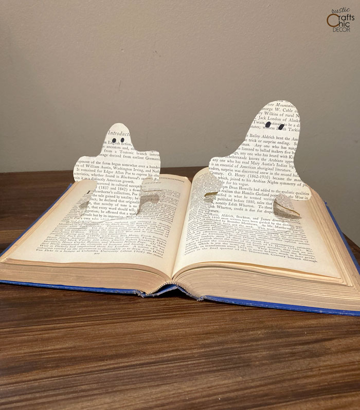 ghosts from book pages