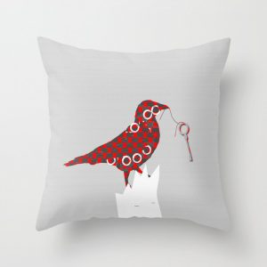 halloween crow pillow