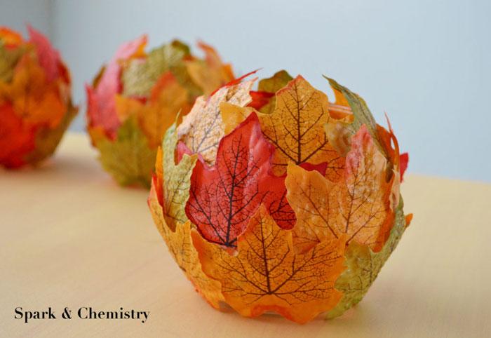 fall maple leaf candle holder