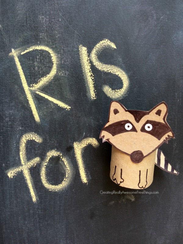 raccoon toilet paper roll craft
