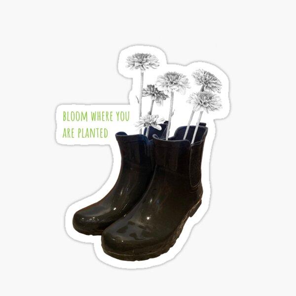 rainboot planter sticker