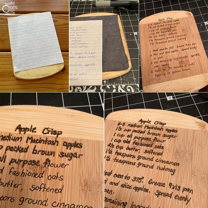 recipe keepsake tutorial