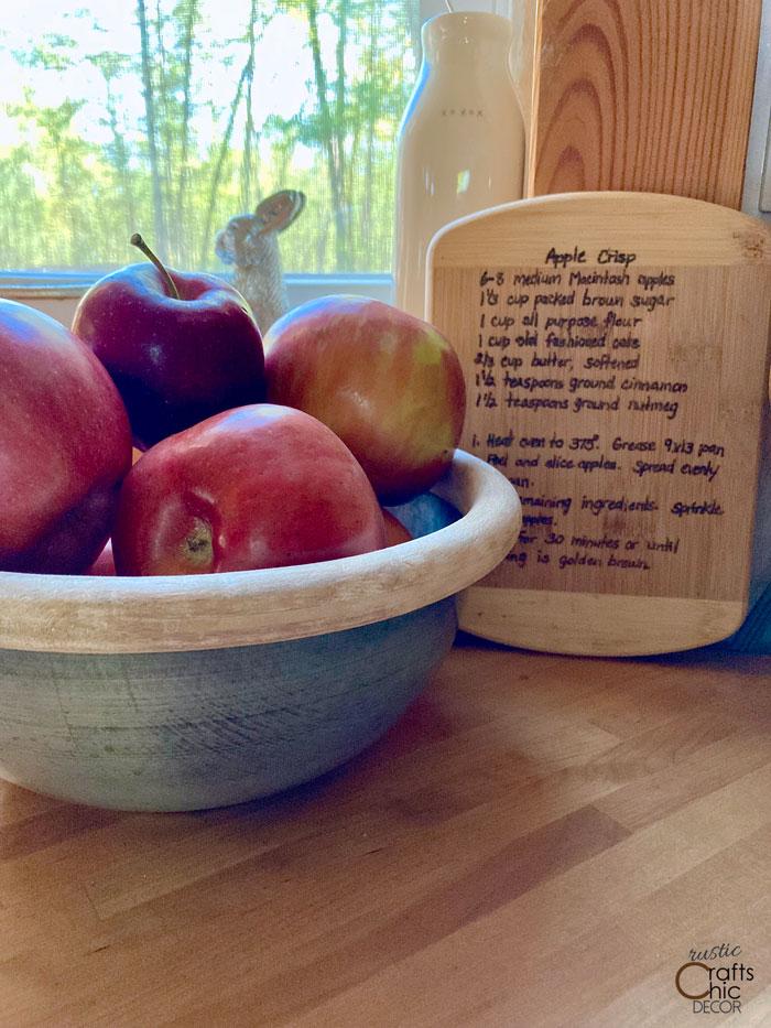 wood burned cutting board recipe