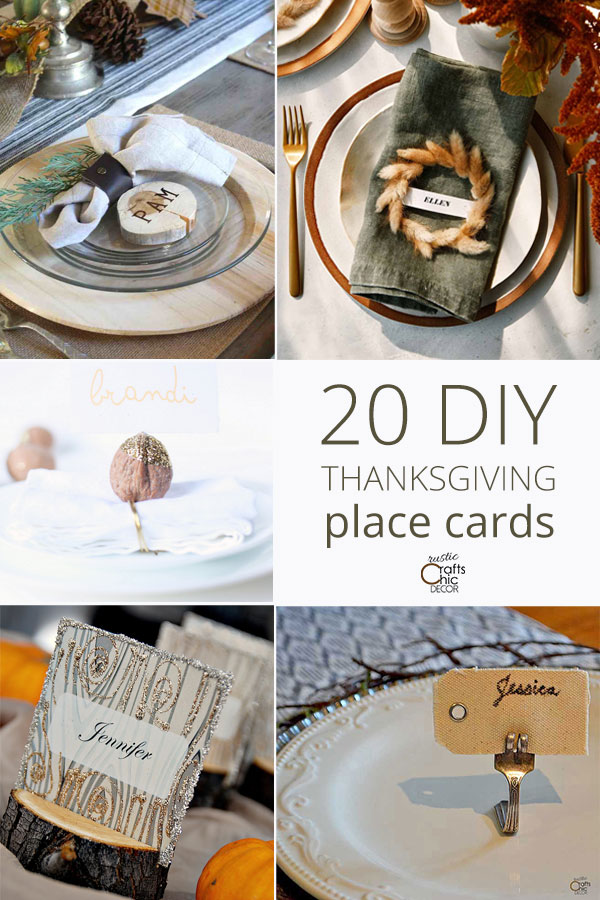diy place cards for thanksgiving