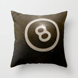 billiard ball throw pillow