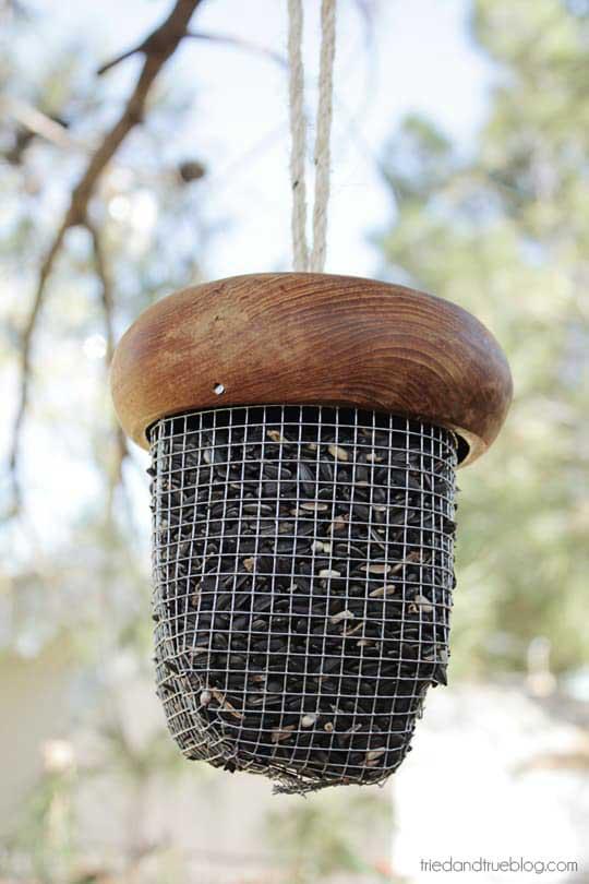 acorn bird feeder craft