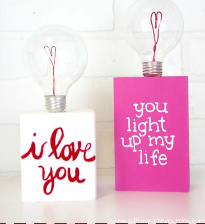 diy valentine light bulb gift