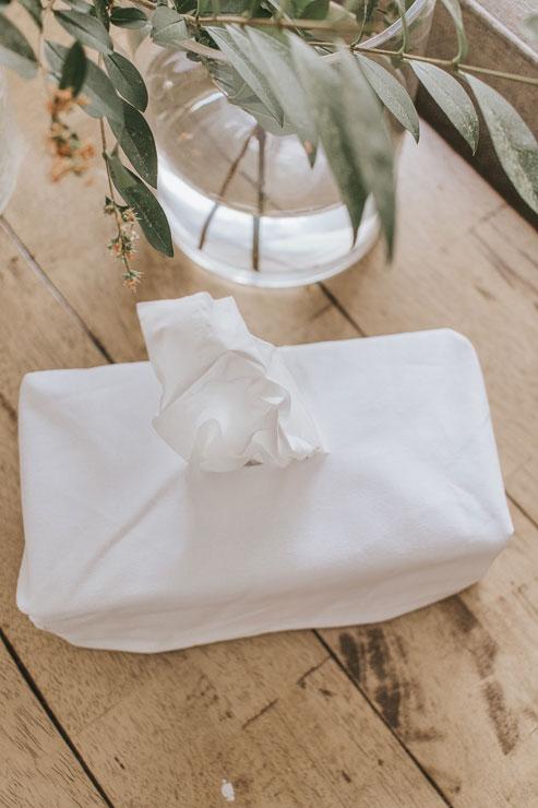 fabric covered tissue box