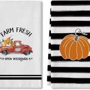 fall dish towels