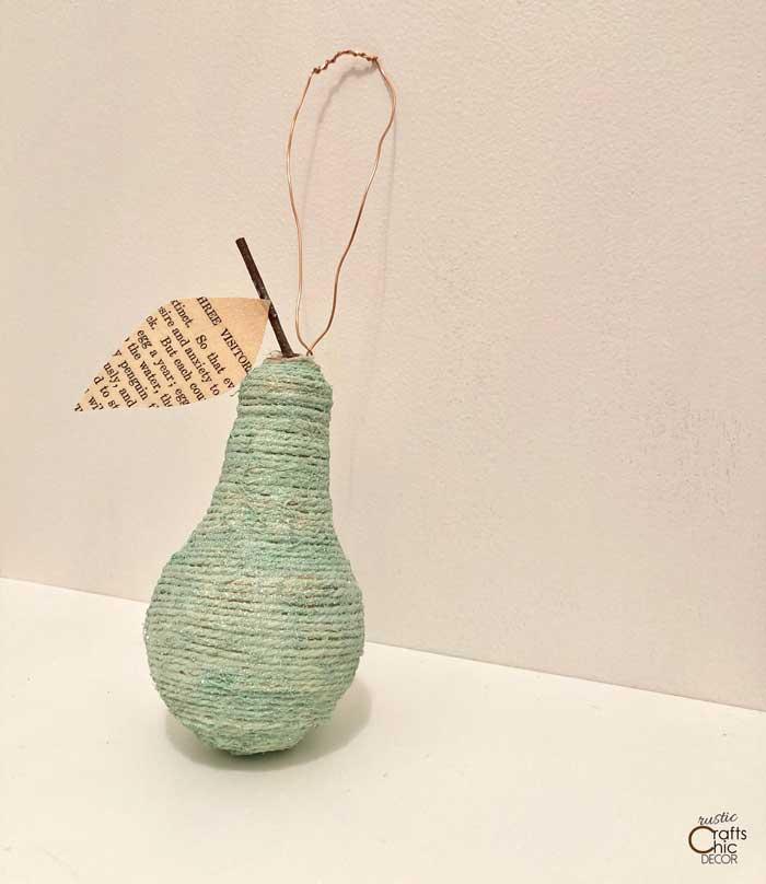 light bulb pear craft