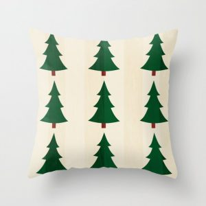 pine tree patterned pillow