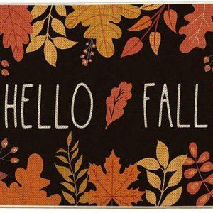 hello fall door mat