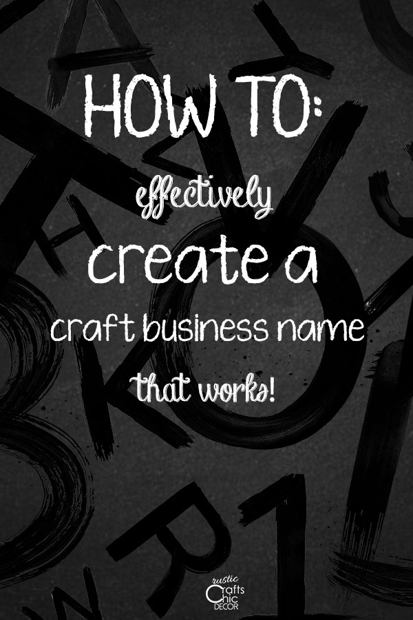 help with craft business names