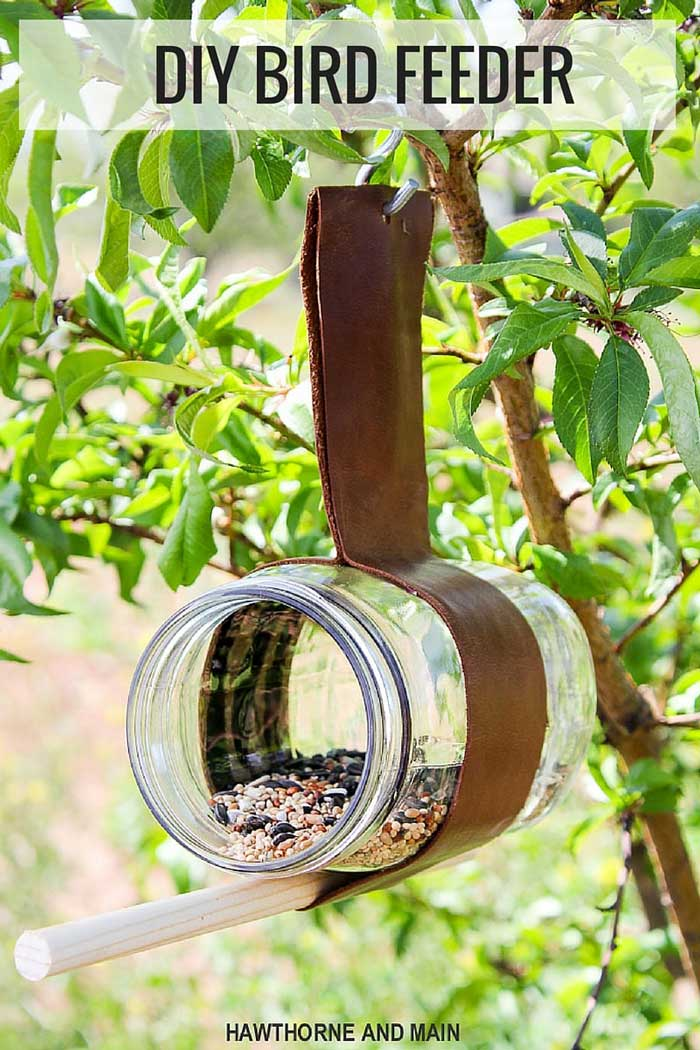 jar diy bird feeder