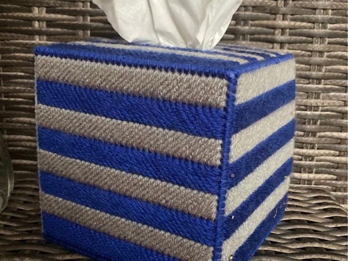 woven plastic canvas tissue box